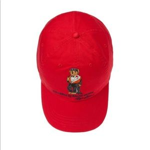 NWT James Bond polo bear red hat leather strap